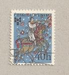 Sellos de Europa - Checoslovaquia -  Jinete disparando