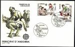 Sellos de Europa - Andorra -  EUROPA  CEPT 1989   Juegos Infantiles - SPD