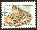 Sellos del Mundo : Asia : Azerbaiyán : PANTHERA TIGRUS VIRGATA
