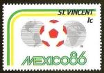 Sellos del Mundo : America : San_Vicente_y_las_Granadinas : FUTBOL - MEXICO 1986