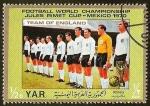 Sellos del Mundo : Asia : Yemen : FUTBOL - MEXICO 1970 - TEAM OF ENGLAND
