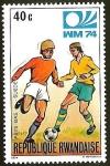 Sellos del Mundo : Africa : Rwanda : FUTBOL - WM 1974 - PAYS BAS - SUEDE