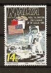 Sellos del Mundo : Europa : Malta : Conmemoracion de la llegada del hombre a la luna.