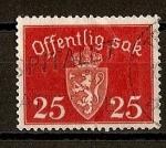 Sellos del Mundo : Europa : Noruega : Escudo de Noruega - Servicio.