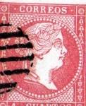 Sellos del Mundo : Europa : España : Cuatro Cuartos Isabel II