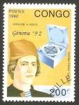 Sellos del Mundo : Africa : República_del_Congo : 956 - Vicente Yañez Pinzon, navegante