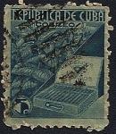 Sellos de America - Cuba -  República de Cuba - planta de tabaco y caja de habanos