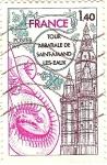 Sellos de Europa - Francia -  Tour Abbatiale de Saint-Amand-Les-Eaux