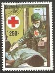 Sellos del Mundo : Africa : Burkina_Faso : 318 - 75 anivº de la Cruz Roja en Burkina Faso