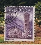 Sellos del Mundo : Europa : Andorra : Andorra.  Iglesia de Santa Coloma.  Primer día de circulación del sello