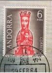Sellos del Mundo : Africa : Angola : Andorra.  Virgen de Meritxell.  Primer día de circulación del sello