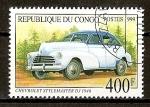 Sellos del Mundo : Africa : República_del_Congo : Chevrolet Stylemaster Dj.