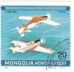 Sellos del Mundo : Asia : Mongolia : avionetas deport