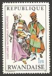 Sellos del Mundo : Africa : Rwanda : 349 - Traje típico africano de Nigeria del Norte