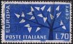 Sellos de Europa - Italia -  EUROPA 1962