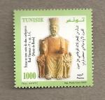 Sellos del Mundo : Africa : Túnez : Estatua del dios cartaginés Baal Hammon
