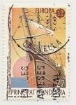 Sellos del Mundo : Europa : Andorra : Barcos ( 500° Aniversario del Descubrimiento de América )