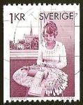 Sellos del Mundo : Europa : Suecia : MUJER