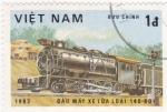 Sellos de Asia - Vietnam -  ferrocarriles de vapor
