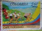 Sellos del Mundo : America : Colombia : CAFÉ Y CICLISMO-Orgullo Colombiano- Equipo Colombiano de los Granos de Café.