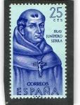 Sellos de Europa - España -  1526- FORJADORES DE AMERICA.  FRAY JUNÍPERO SERRA  ( 1713-1784 ).