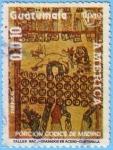 Sellos de America - Guatemala -  Porción Codice de Madrid