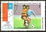 Sellos del Mundo : America : Cuba : COPA MUNDIAL DE FUTBOL MEXICO 86 - CHILE