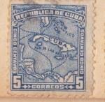 Sellos de America - Cuba -  Mapa Ed 1911