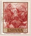 Sellos del Mundo : Europa : España : Velázquez - La coronación de la Virgen