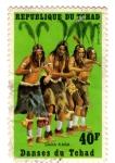 Sellos del Mundo : Africa : Chad : danzas del chad