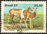 Sellos del Mundo : America : Brasil : Fauna brasileña-Venado Pampa.