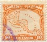 Sellos de America - El Salvador -  America central