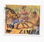 Sellos del Mundo : Africa : Zambia : baile nacional