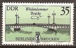 Sellos de Europa - Alemania -  Puentes de Berlin-puente Weidendamer (DDR)