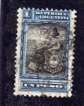 Sellos de America - Argentina -  Libertad con escudo