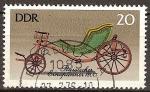 Sellos del Mundo : Europa : Alemania : Carruajes antiguos (carruaje ruso del año 1800) DDR.