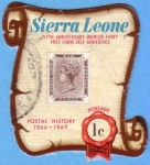 Sellos del Mundo : Africa : Sierra_Leona : Fifth anniversary worlds first free form self adhesives