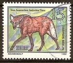 Sellos del Mundo : Europa : Alemania : Animales en peligro de extinción- lobo de crin,zoológico de Berlín(DDR)