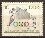Sellos del Mundo : Europa : Alemania : XVIII.Juegos Olimpicos de Tokio 1964.-Voleibol