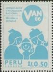 Sellos del Mundo : America : Perú : VACUNACION NACIONAL 1986