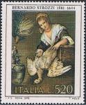 Sellos de Europa - Italia -  ARTE ITALIANO. LA COCINERA, POR BERNARDO STROZZI. Y&T Nº 1354
