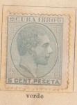 Sellos de America - Cuba -  Alfonso XII Ed 1880
