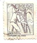 Sellos de America - Brasil -  cortador de caña
