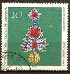 Sellos de Europa - Alemania -  Bóveda Verde de Dresde-Insignia del Toisón de Oro, c. 1730(DDR)