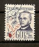 Sellos de Europa - Checoslovaquia -  Gregor J. Mendel.