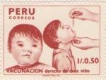 Sellos del Mundo : America : Perú :  Vacunacion derecho de cada niño