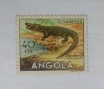 Sellos del Mundo : Africa : Angola : Animales. Cocodrilo.