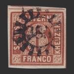Sellos del Mundo : Europa : Alemania : Reino de Baviera - 6 k.
