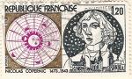 Sellos del Mundo : Europa : Francia : Nicolas Copernic 1473-1543