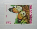 Sellos del Mundo : Africa : Cabo_Verde : Mariposas. Danaus Chrysippus.